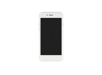 Smartphone Rose Display schwarz vorderansicht auf weißem Hintergrund