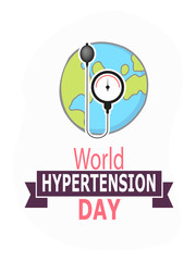 creative abstract, banner or poster for World Hypertension Day with nice design illustration, 17th of May.