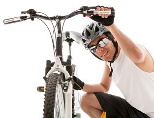 Cyclist ready for the race