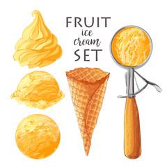 Set of Vector ice creams