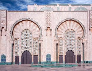 Exterior of Hassan II Mosque in Casablanca, Morocco, Africa
