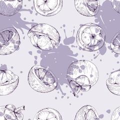 mangosteen vector seamless pattern? purple