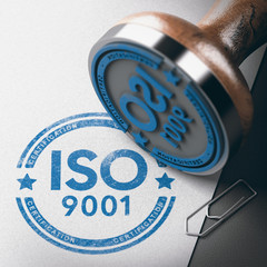 ISO 9001 Certification, Quality Management. Rubber Stamp