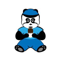 panda with ice cream