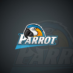 Parrot logo template. High resolution vector image
