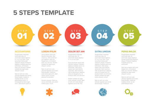 5 Circle Infographic