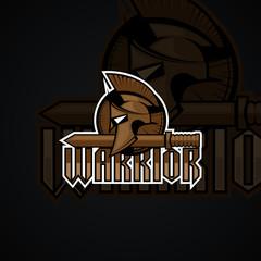Warrior logo.  High resolution vector image