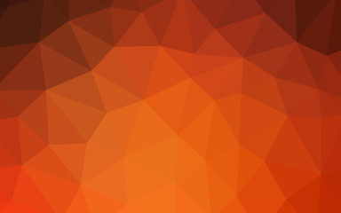 Light Orange vector abstract mosaic backdrop.