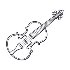 Doodle of classic violin without a bow