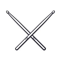Doodle of crossed drumsticks