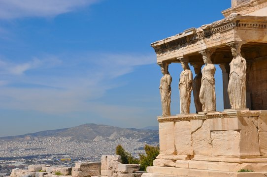 caryatide, acropole, Athènes