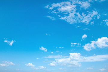 Beautiful view of a summer, cloudy sky