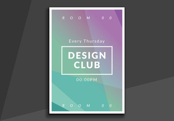 Poster Layout with Geometric Gradient Elements
