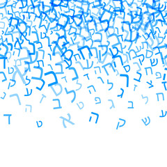 All letters of Hebrew alphabet, Jewish ABC pattern