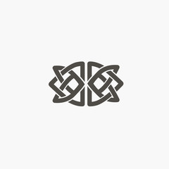 Celtic knot vector. Ornamental tattoo symbol. Luxury circle retro emblem.Traditional scottish vector logo.
