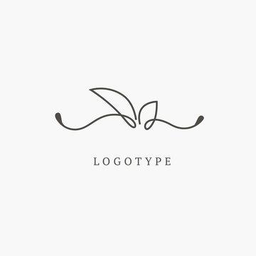 Vector illustration, Graphic Design Editable Design. Floral logo. Flower wedding icon. Luxury spring and summer, emblem.