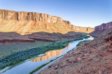 Colorado River in Utah - aerial view