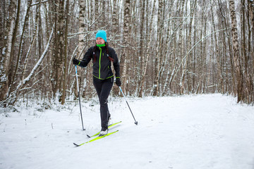 Photo of female skier in black jacket