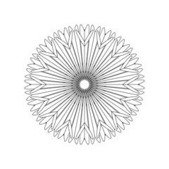 Einzigartiges Mandala zum selber ausfüllen und bearbeiten
