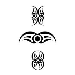 tribal tattoo vector graphic design.
