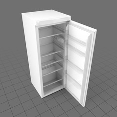 Refrigerator with open door