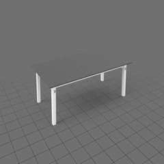Modern table with four legs