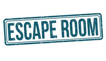 Escape room grunge rubber stamp
