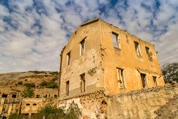 Abandoned buildings near Ingurtosu's mine
