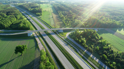 Highway from drone