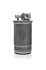 Fuel filter isolated on white background.