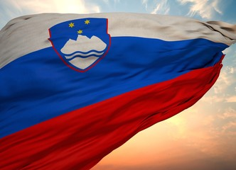 Slovenia Flag, Waving flag