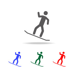 Snowboarder icon. Elements of winter in multi colored icons. Premium quality graphic design icon. Simple icon for websites, web design, mobile app, info graphics