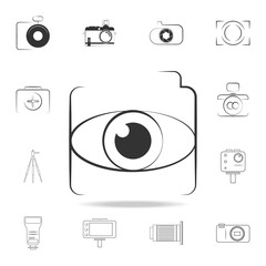 eye lens icon. Detailed set of photo camera icons. Premium graphic design. One of the collection icons for websites, web design, mobile app