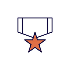military star medal icon. Element of simple colored web icon for mobile concept and web apps. Isolated military star medal icon can be used for web and mobile. Premium icon