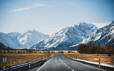 Foto op Canvas Oceanië Road to Mt. Cook