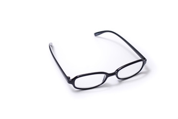 Spectacles on white background