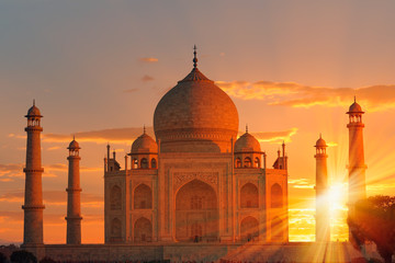 Taj Mahal at sunset - Agra, India