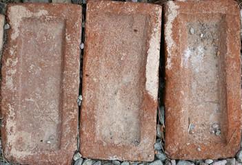 Three old bricks