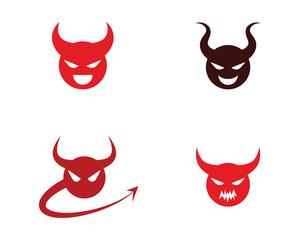 Devil horn Vector icon design