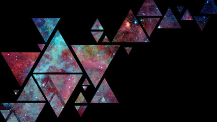 Abstract galaxy geometric background. Elements of this image furnished by NASA.