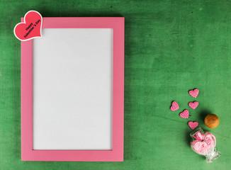 Lovely valentine frame
