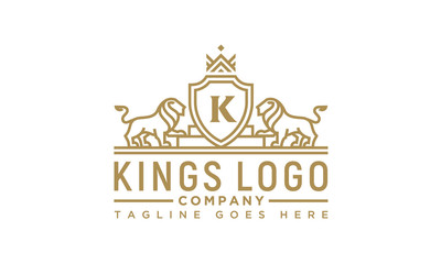 Golden Royal Lion King logo design inspiration