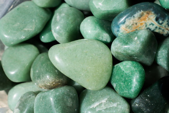 aventurine gem stone as natural mineral rock