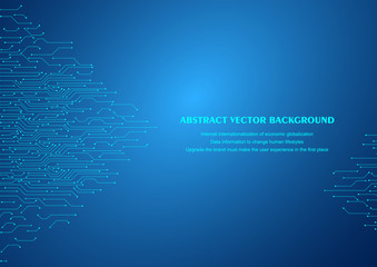 Circuit diagram tech abstract vector background illustration