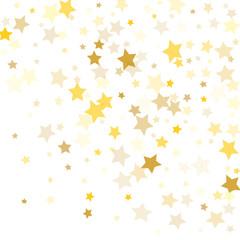 Many Golden Falling Confetti