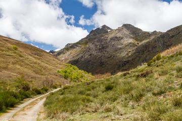 Camino y Pico Gaya de Cueto. La Baña, Comarca de La Cabrera, León, España.