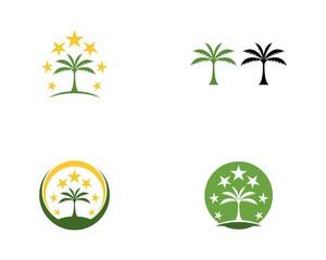 Coconut tree logo vector