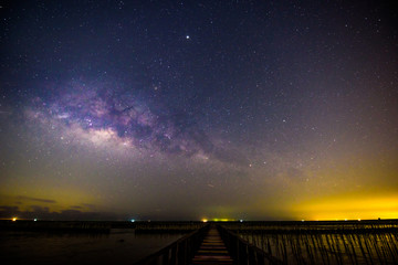 milky way at the bridge of sea view point