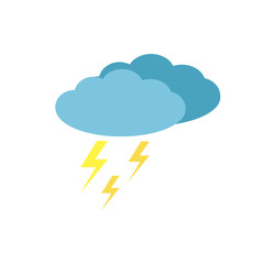 thunderstorm icon, lightning wector icon