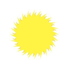 Sun vector icon, yellow sun illustration